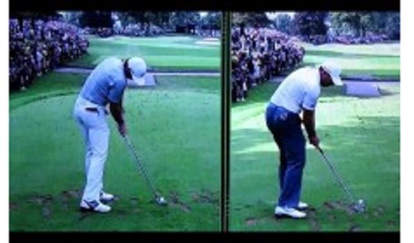 ダウン 右 肘 スイング ゴルフ